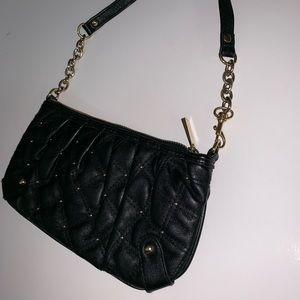 EXPRESS black zippered & studded clutch/wristlet
